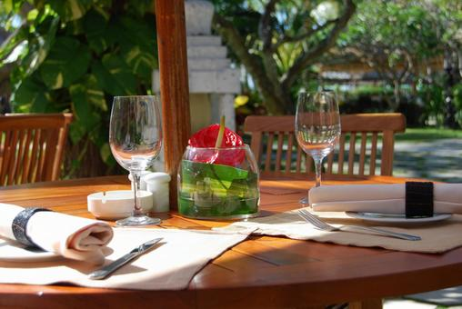 Meals on the terrace