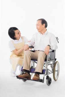 Men and nurses on a wheelchair 11