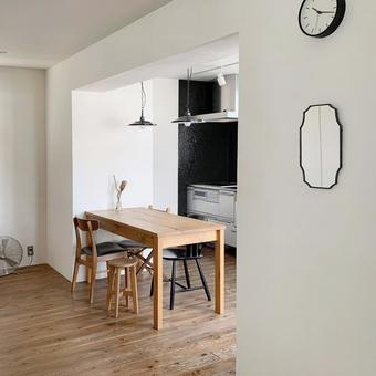 Dining and kitchen diagonal angle