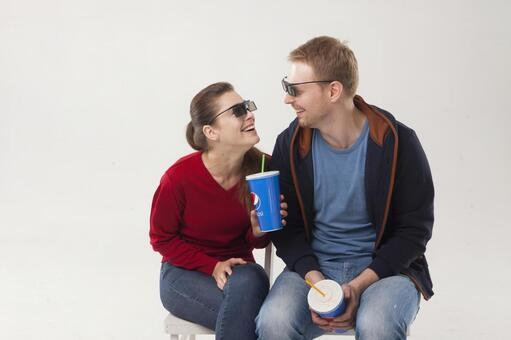 Couple seeing 3D movies 13