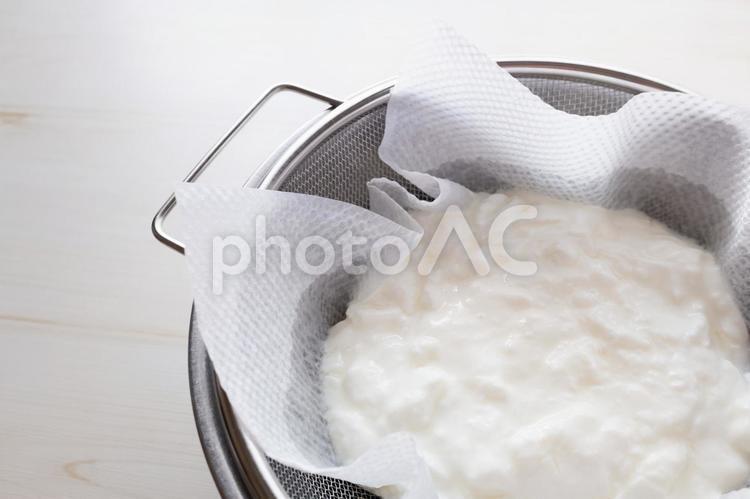 水切りヨーグルトの写真