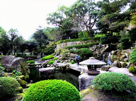 가고시마 仙厳園 기 정원