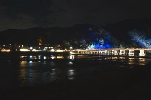 Togetsu Bridge Illumination (Overall)