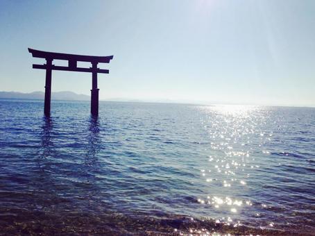 Shiroki Shrine of Lake Biwa in Shiga prefecture