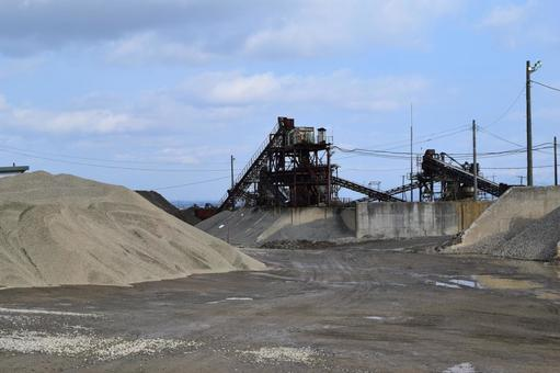 Crushed stone factory Construction material production site
