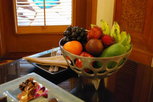 Resort hotel's welcome fruit