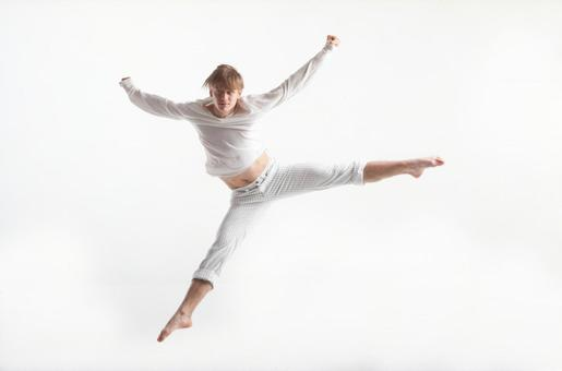 Jumping male dancer 1
