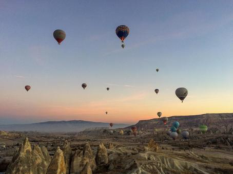 Cappadocia Balloons floating in the sky
