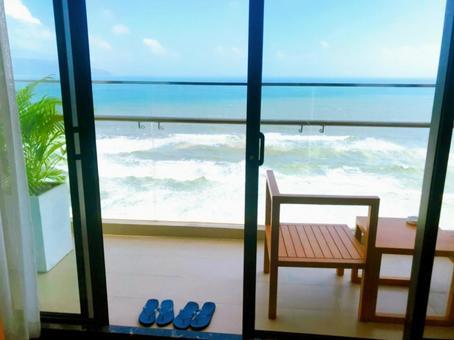 My Khe Beach seen from Da Nang Hotel, Vietnam