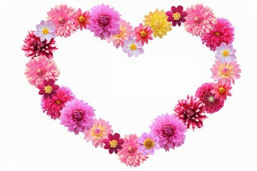 Flower frame Dalia Heart