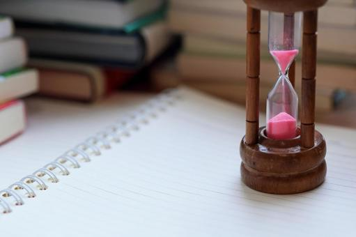 Hourglass Time flow Study image material