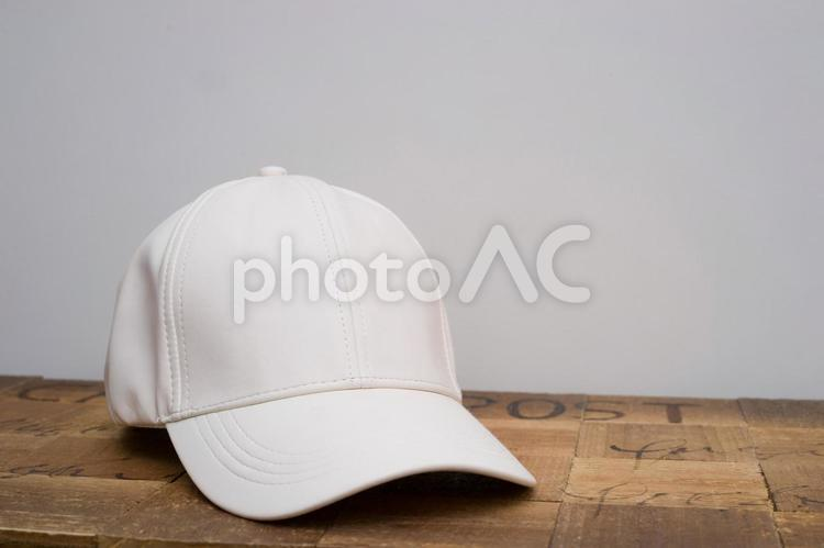 白い帽子の写真