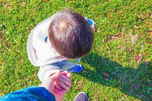Walk walking with children