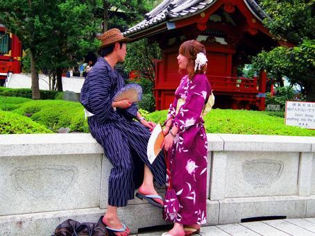 아사쿠사 기모노 데이트