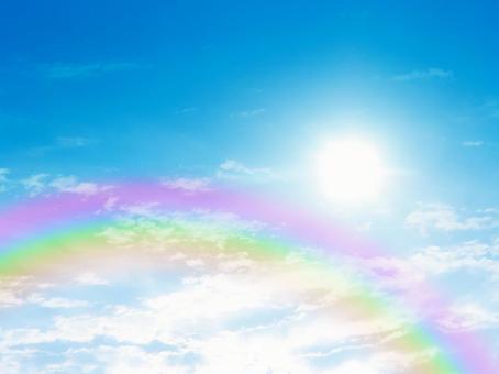 Blue sky and rainbow 16110604