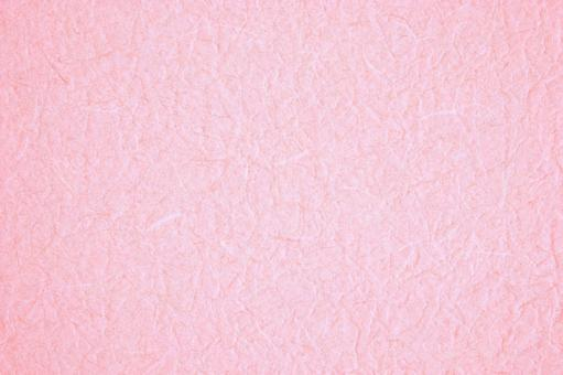 Wrinkled pink Japanese paper-like background material