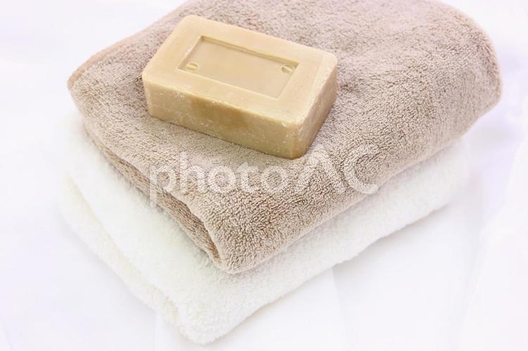 タオルと石鹸3の写真