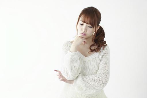 Worried lady 8