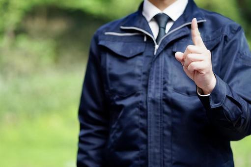 Businessman in work clothes