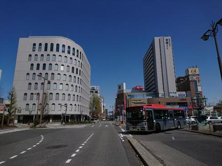 Cityscape in front of Niigata Station