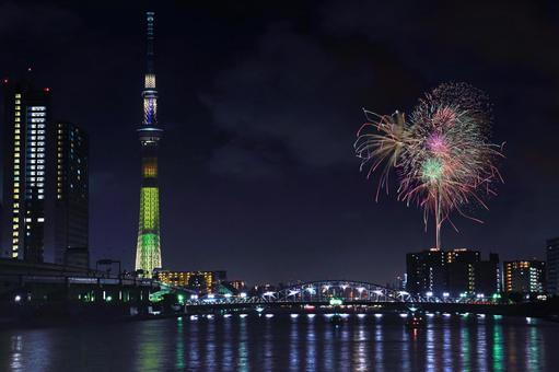 "Sumida River Fireworks Festival ""Grand Finale Senshi Manko Sumida Flower Storm"""