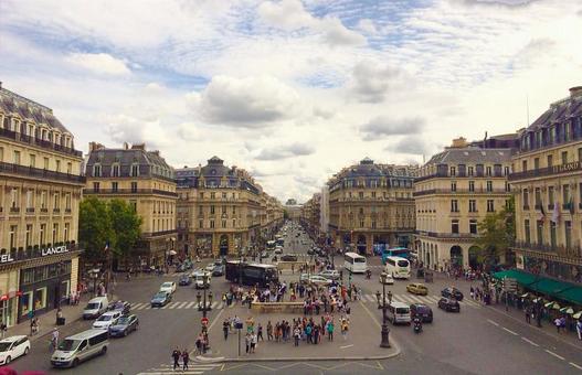 프랑스 파리의 거리 풍경