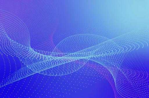 Blue Gradient-Abstract Dot Abstract CG Glitter Background