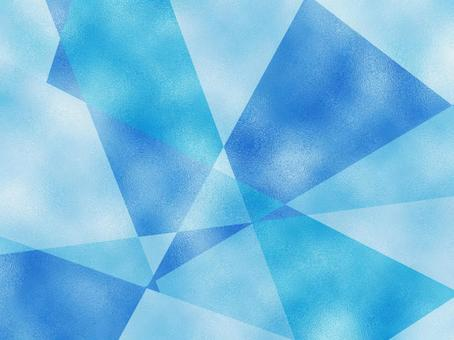Glass texture graphic cut blue