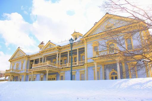 Former Hakodate Public Hall in winter