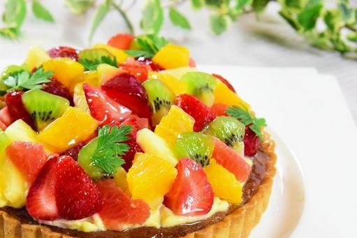 과일과 딸기 케이크 과일 타르트