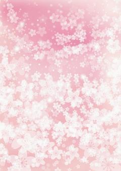 Sakura pink wave gradient background material-vertical position
