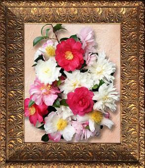 Flower of antique style gold color frame