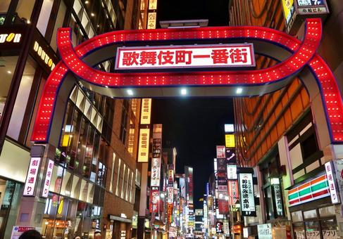 Kabukicho first town at night
