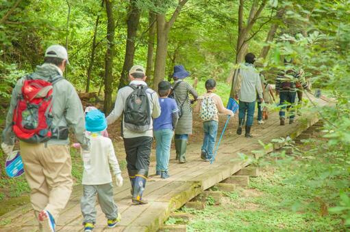 People walking in the mountains 1