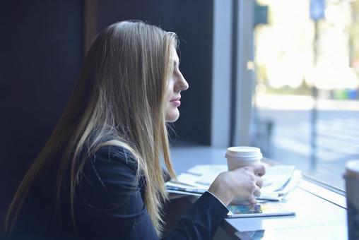 Coffee shop woman 6