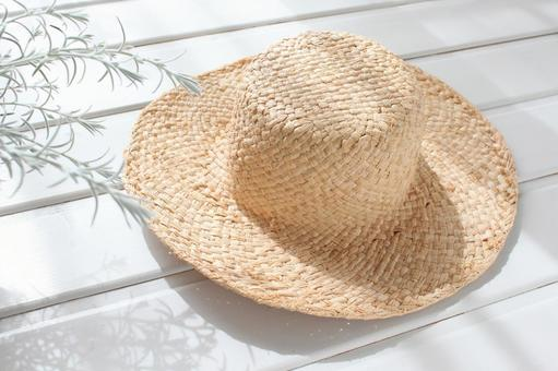 Straw hat in the light