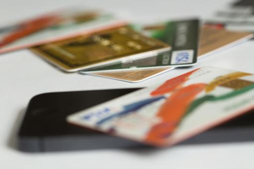 Credit card and mobile phone 3