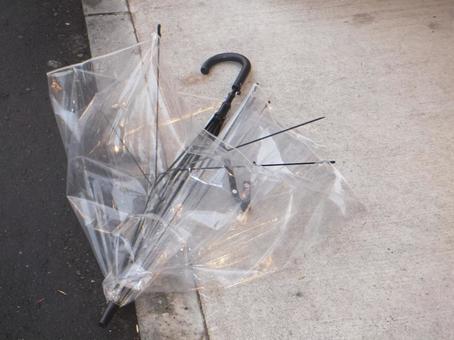 Broken vinyl umbrella