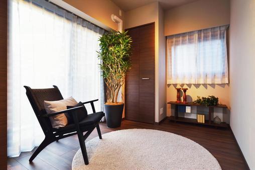 Private room in the corner room of the condominium (botanical interior)