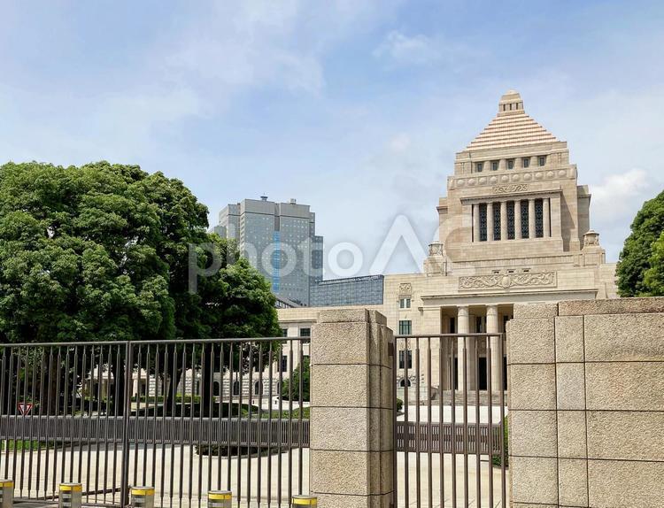 東京風景・国会議事堂の写真