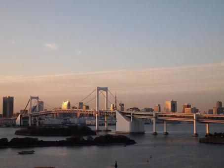 Rainbow Bridge in the evening