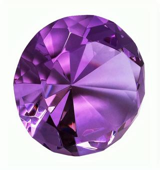 Amethyst color crystal (with clipping pass)