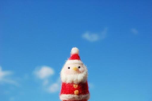 Santa Claus and blue sky