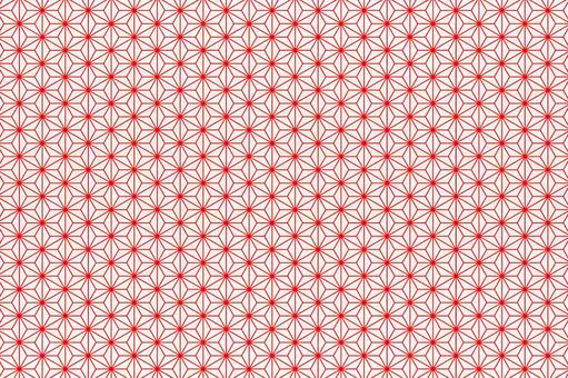 Hemp leaf Japanese pattern Japanese paper - red and white