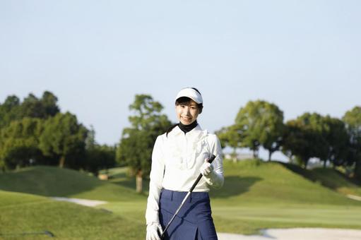 Female golfing 12