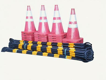Construction cone and cone bar