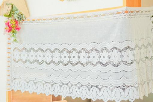 Image of lace curtain