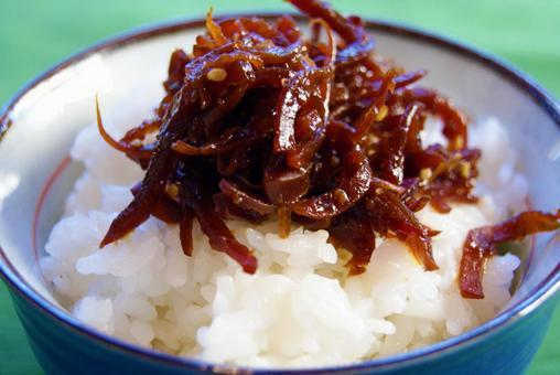 Tsukudani pickled rice