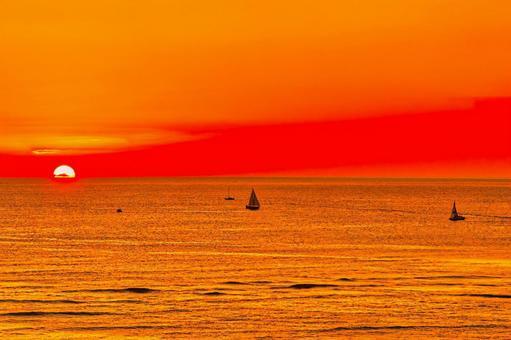Beautiful hawaii sunset