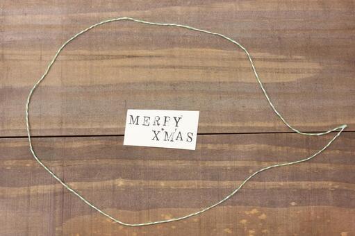 Message card MERRY X'MAS